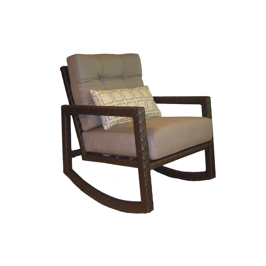 allen + roth Lawley Steel Patio Conversation Chair