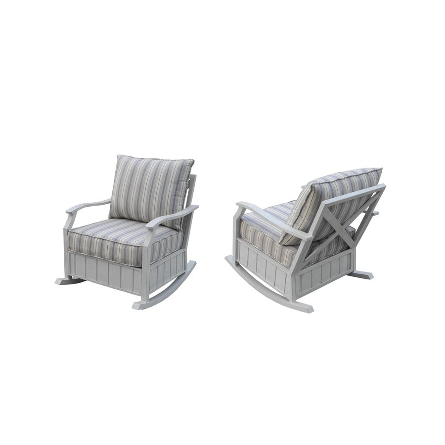 Garden Treasures Chapel Cove Aluminum Patio Conversation Chair