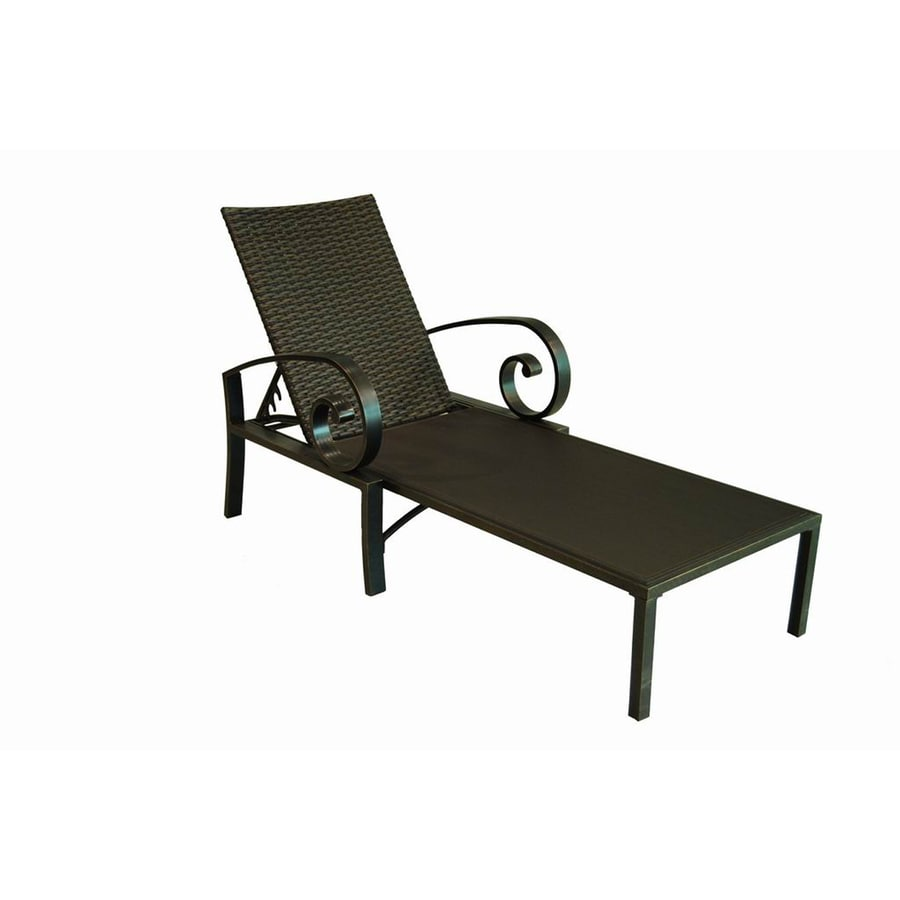 Shop allen roth pardini aluminum patio chaise lounge for Allen roth tenbrook extruded aluminum patio chaise lounge