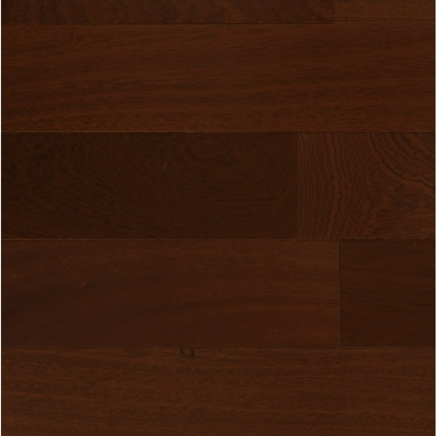 Contemporary 5-in W x 48-in L Sapelle Locking Hardwood Flooring