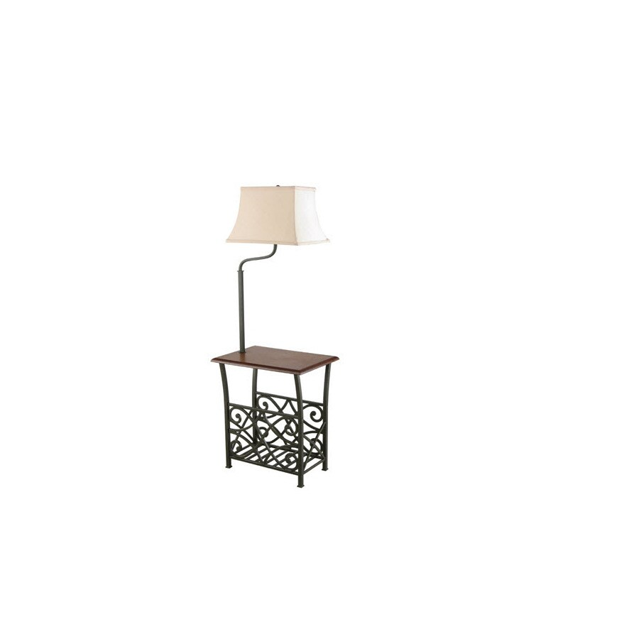 Style Selections 54-in Painted Restoration Bronze Finish Traditional Standard Shaded Floor Lamp Indoor Floor Lamp with Fabric Shade