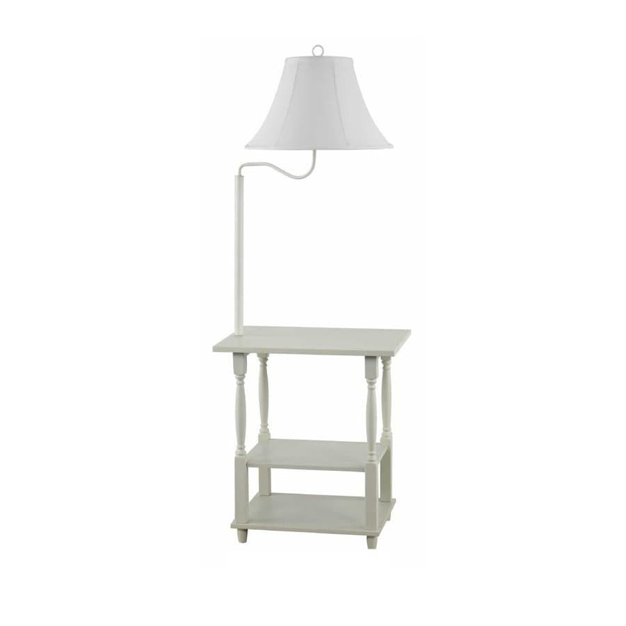 allen + roth 54-in 3-Way Switch Off White Coastal/Nautical Indoor Floor Lamp with Fabric Shade