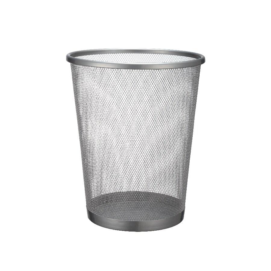 Mesh Silver Metal Wastebasket