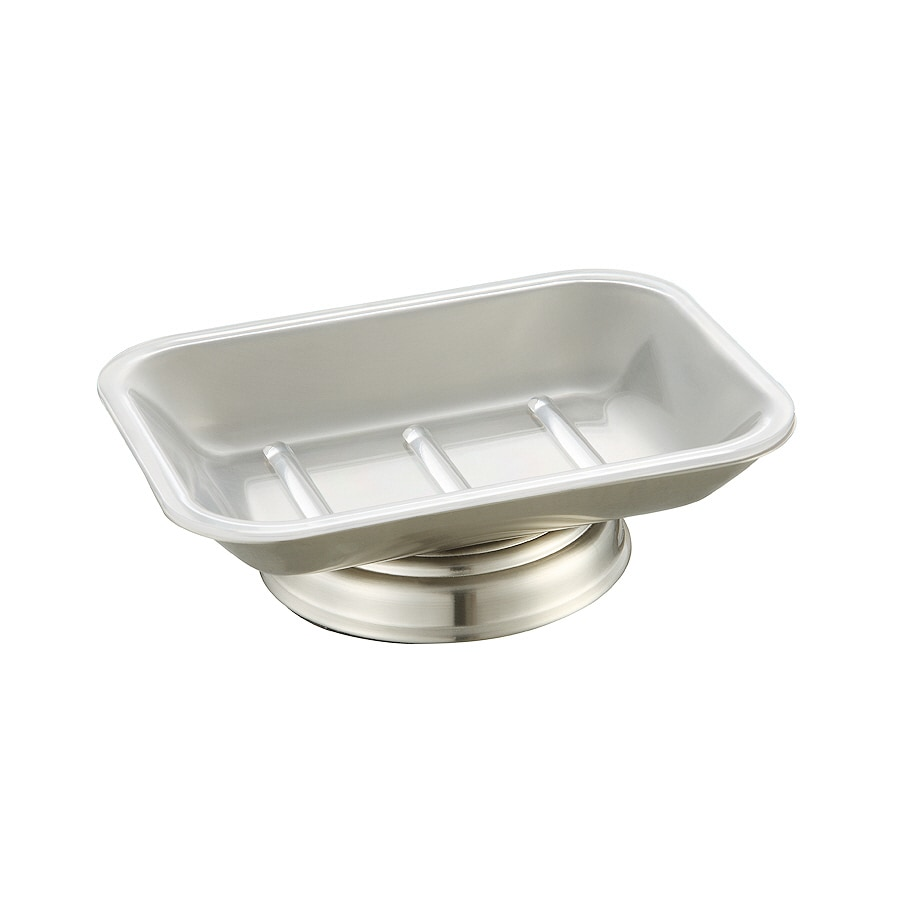 allen + roth Mitchell Brushed Nickel Metal Soap Dish