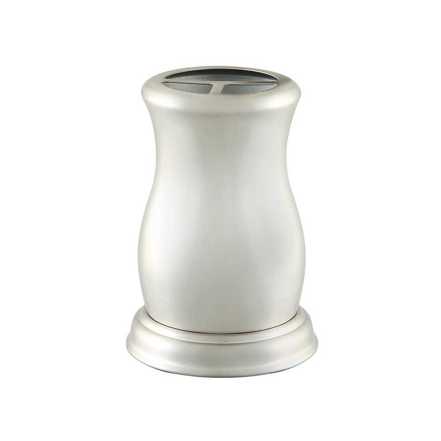 allen + roth Mitchell Brushed Nickel Metal Toothbrush Holder
