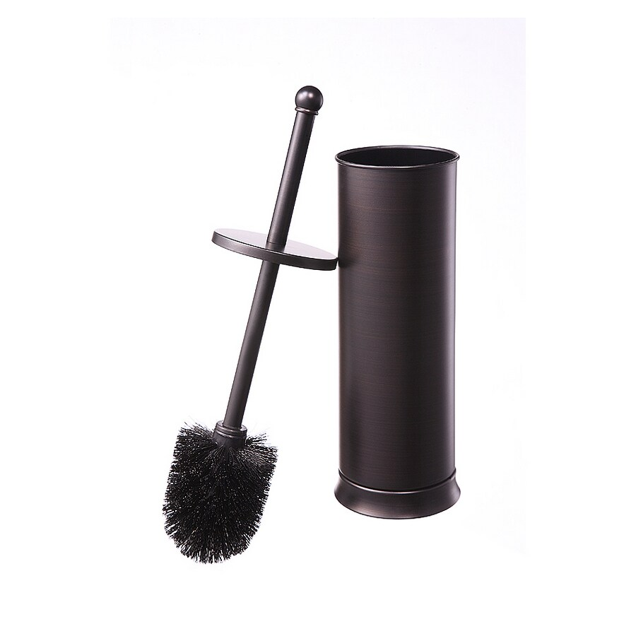 shop allen roth brinkley handsome oil rubbed bronze metal toilet brush holder at. Black Bedroom Furniture Sets. Home Design Ideas