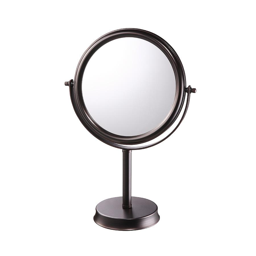 ... + roth Brinkley Bronze Mirrored Glass/Metal Countertop Vanity Mirror