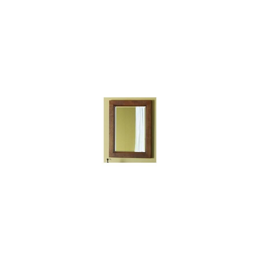 allen + roth 26-in H x 20-in W Burbank Sable Rectangular Bathroom Mirror