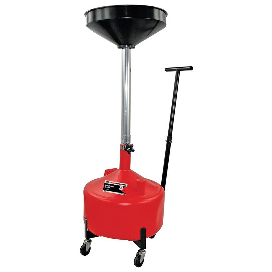 18 Gallon ATD Tools 5188 Plastic Waste Oil Drain with Casters