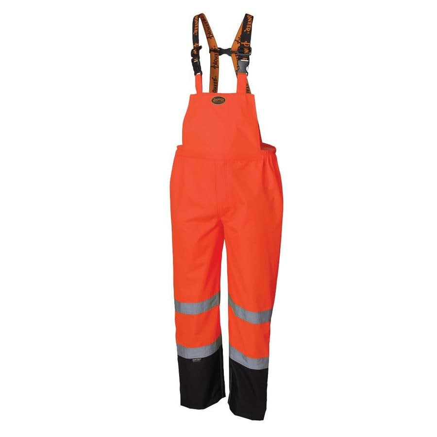 Pioneer High Visibility Reflective Tape Unisex Yellow//Green Waterproof V1120661U-M Windproof Quilted Bib Safety Pants with Adjustable Suspenders M