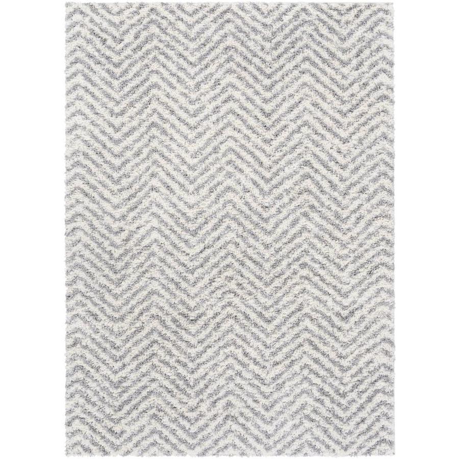 160x230cm Serdim Rugs Modern Soft Bordered Design Living Room Polyester Shaggy Rugs Grey 53x77