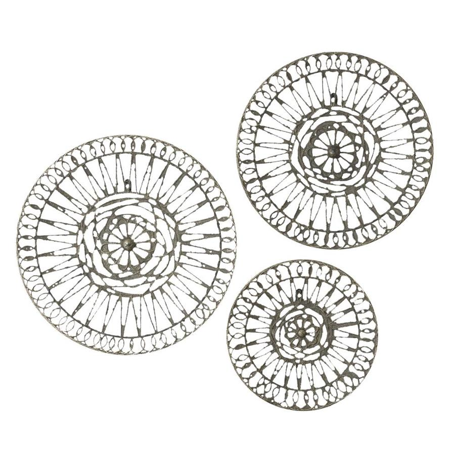 Grayson Lane White And Grey Metal Round Wall Decor Set Of 3 14 In 18 20 The Art Department At Lowes Com