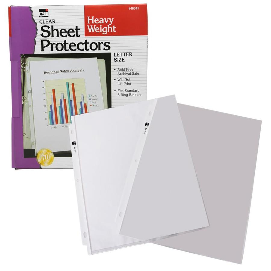 Charles Leonard Sheet Protectors 100/per box heavy Weight 48341 Letter size Clear