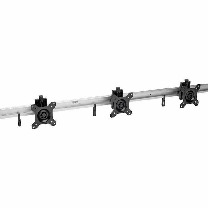 Triple Flat-Panel Rail Wall Mount for 3 TVs and Monitors