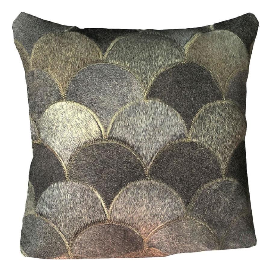 Excl Decorative Cushion Cowhide Cushion 50x50 Faux Fur Bull Fur 3-Tone NEW