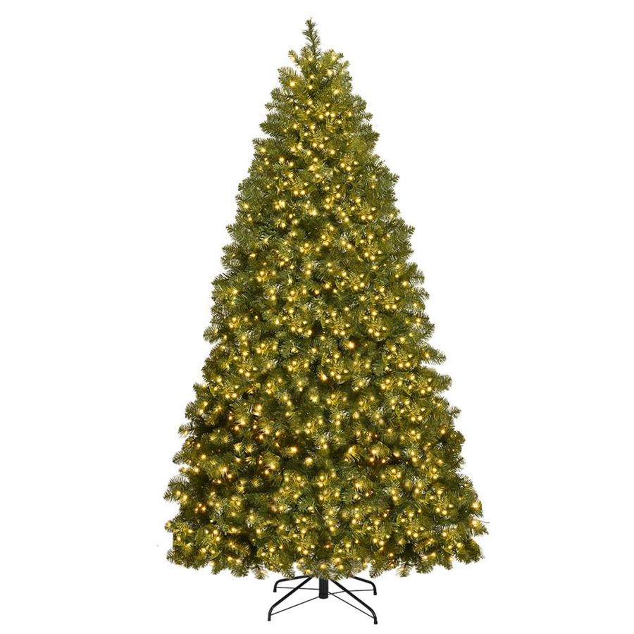 Goplus Pre-Lit Christmas Tree Artificial PVC Spruce Hinged with 700 LED Lights and Solid Metal Legs 7ft