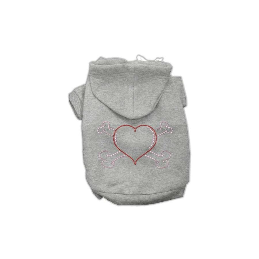 Black Mirage Pet Products Heart and Crossbones Hoodies X-Large//Size 16