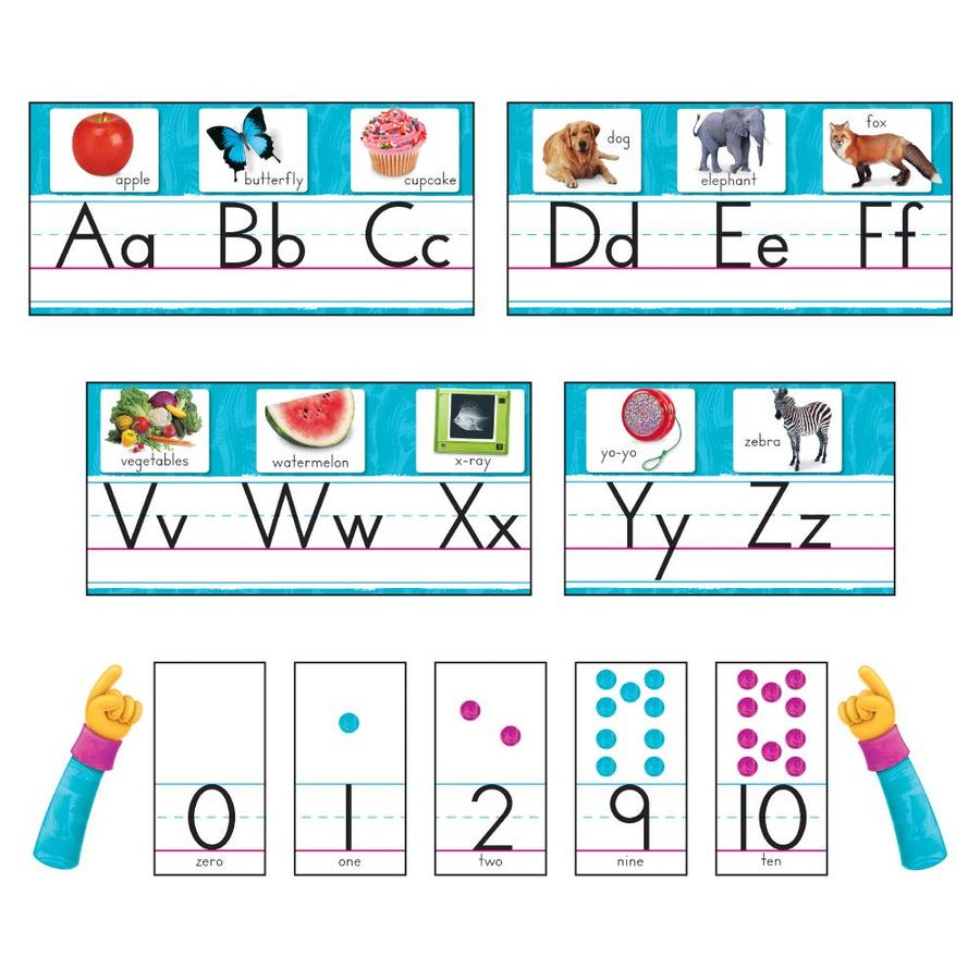 Trend Enterprises Color Harmony Photo Alphabet Bulletin Board Set In The Classroom Decorations Department At Lowes Com