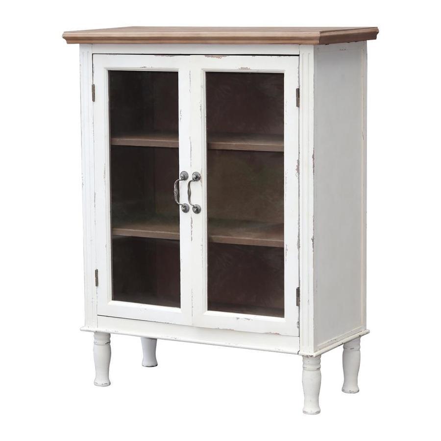 Parisloft Rustic Farmhouse Buffet Sideboard Kitchen Dining Storage Cabinet
