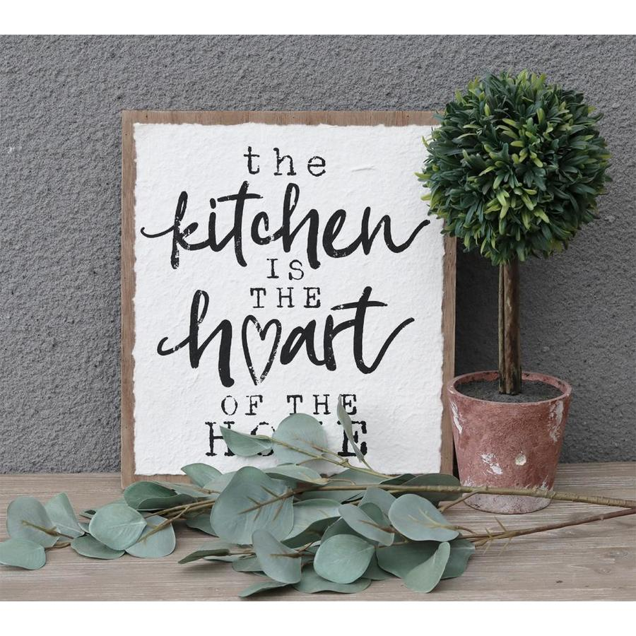 Parisloft Kitchen Is The Heart Of Home Wood Wall Sign In Art Department At Lowes Com