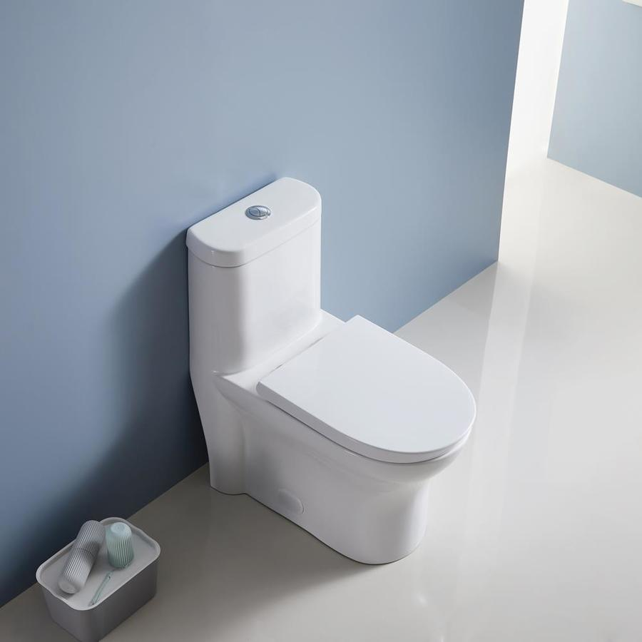 Includes a Modern White Dual Eco Flush Plate with Half Moon Integrated Buttons ECOSPA Universal Slim Concealed 3L//6L Insulated Cistern for a Wall-Hung WC or Back to Floor Toilet