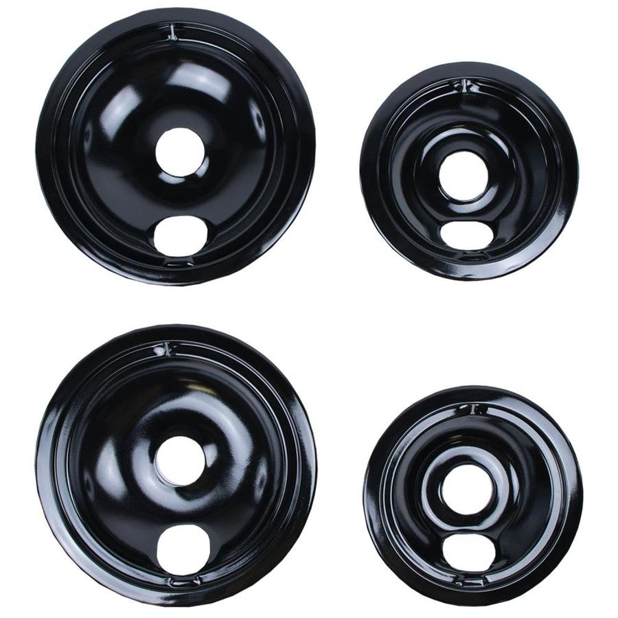 GE//Hotpoint Porcelain Stove Drip Pans Electric Burner Covers Top Replacement Set