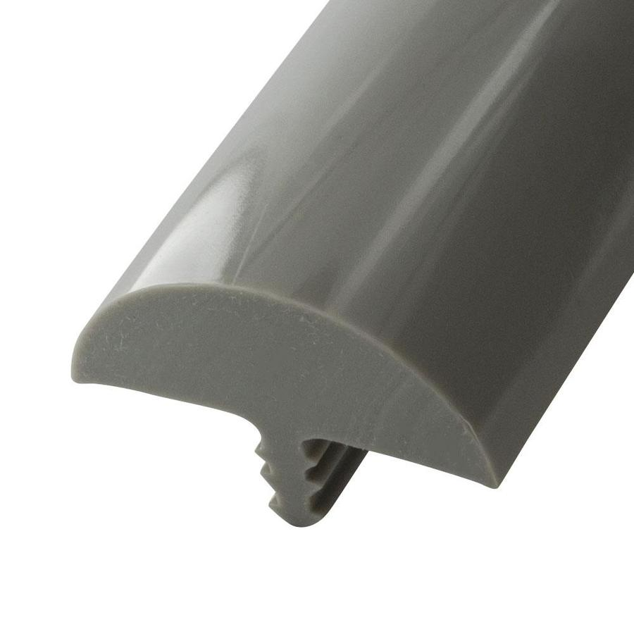 """Outwater 13//16/"""" Brushed Chrome Flexible PVC Metallic Tee Moulding 250ft Coil"""