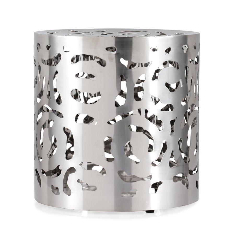 Zuo Modern Stainless Steel Round Ottoman