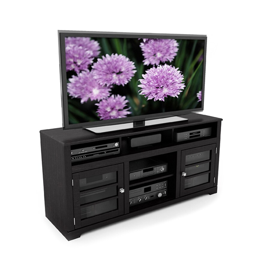 CorLiving West Lake Mocha Black Rectangular Television Cabinet