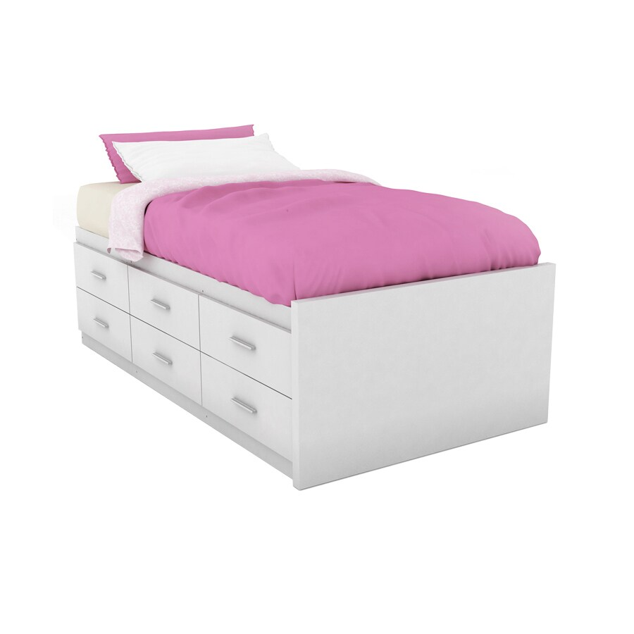 Sonax Willow Frost White Twin Platform Bed With Storage
