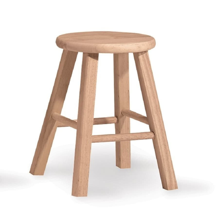 International Concepts Unfinished 18-in Small Stool