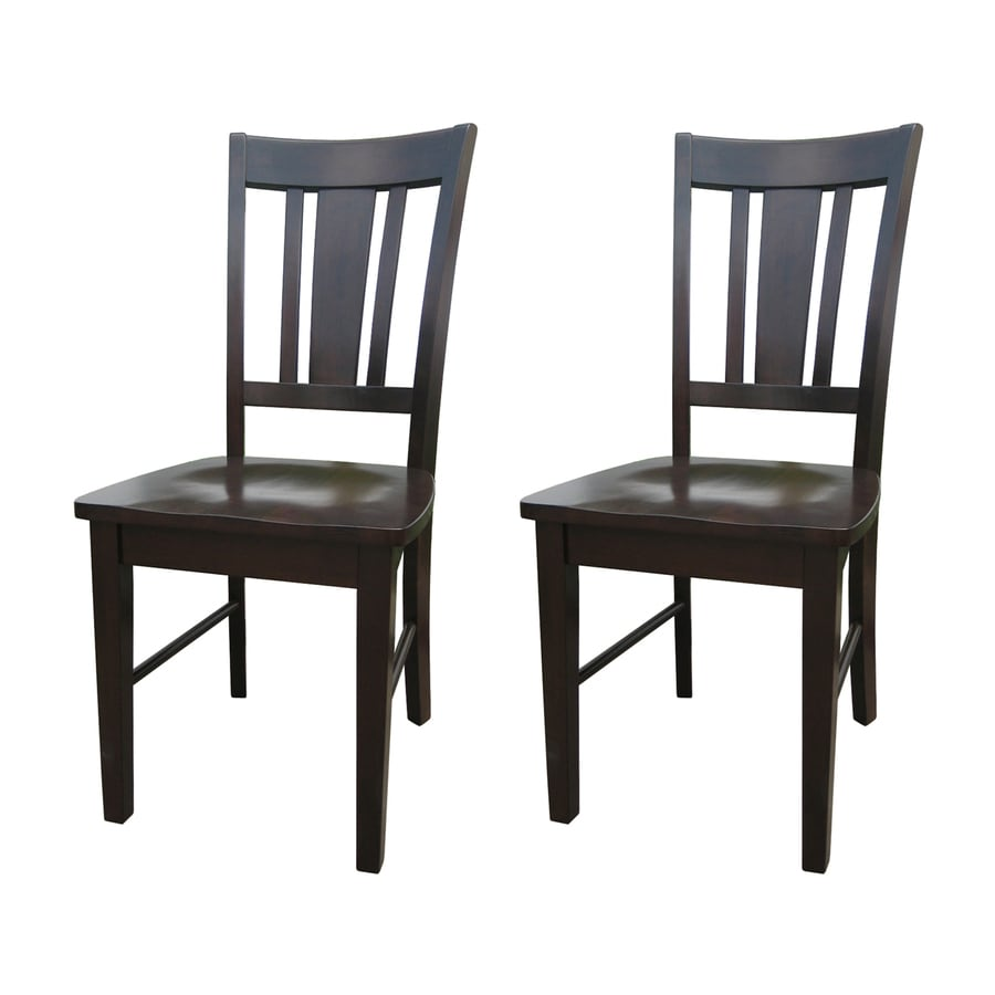 International Concepts Set of 2 San Remo Java Side Chairs