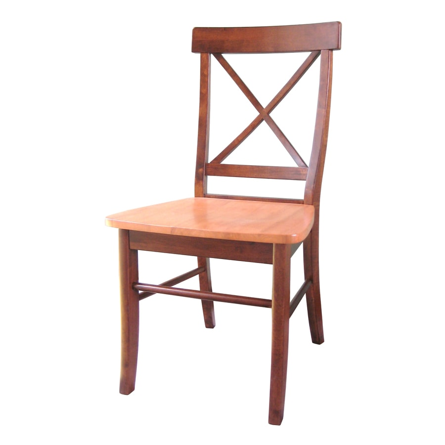 International Concepts Set of 2 Dining Essentials Cinnamon/Espresso Side Chairs