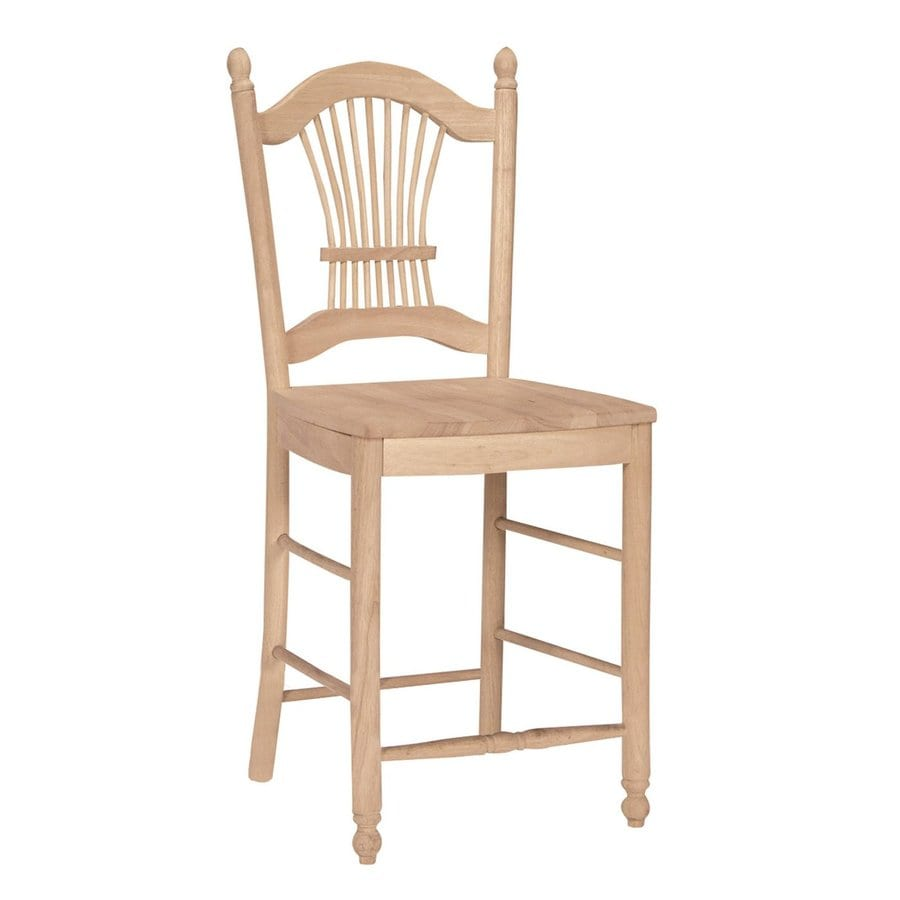 International Concepts Unfinished 24-in Counter Stool