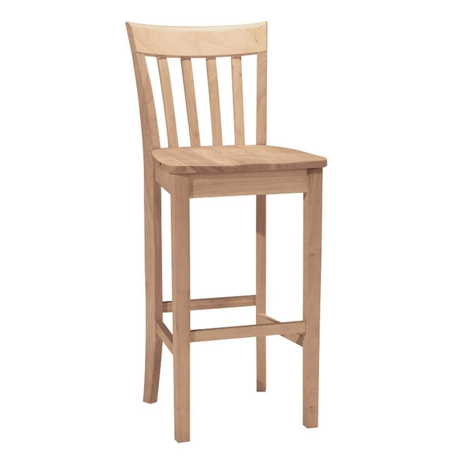 International Concepts Unfinished 30-in Bar Stool