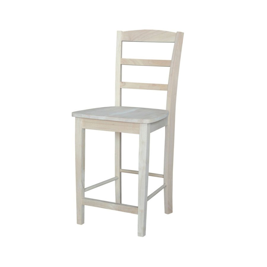 International Concepts Madrid Unfinished 24-in Counter Stool