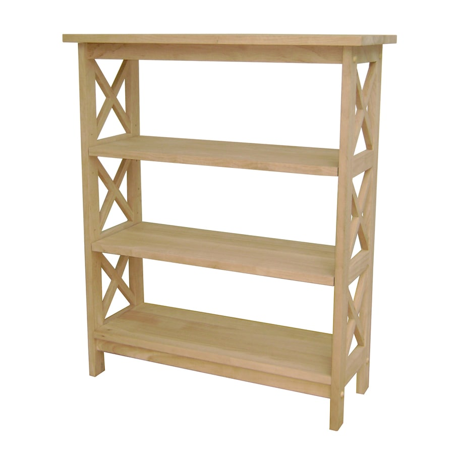 International Concepts Home Accents Natural 30-in W x 36-in H x 12-in D 3-Shelf Bookcase