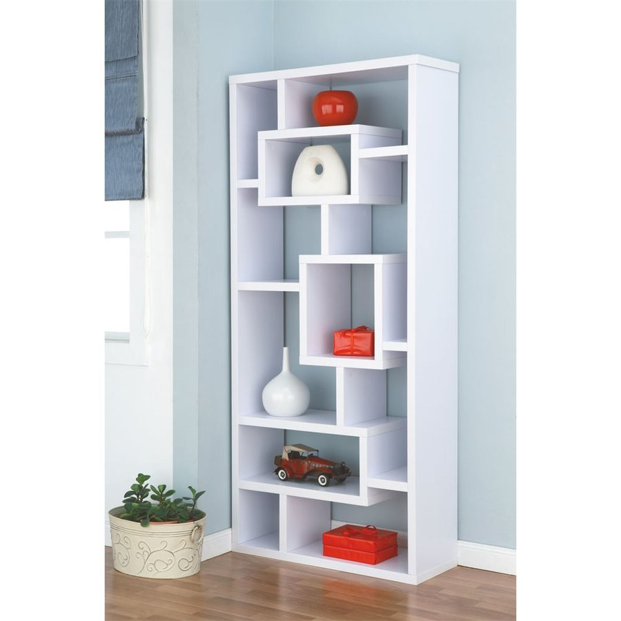 Enitial Lab Celine White 32-in W x 71-in H x 12-in D 11-Shelf Bookcase