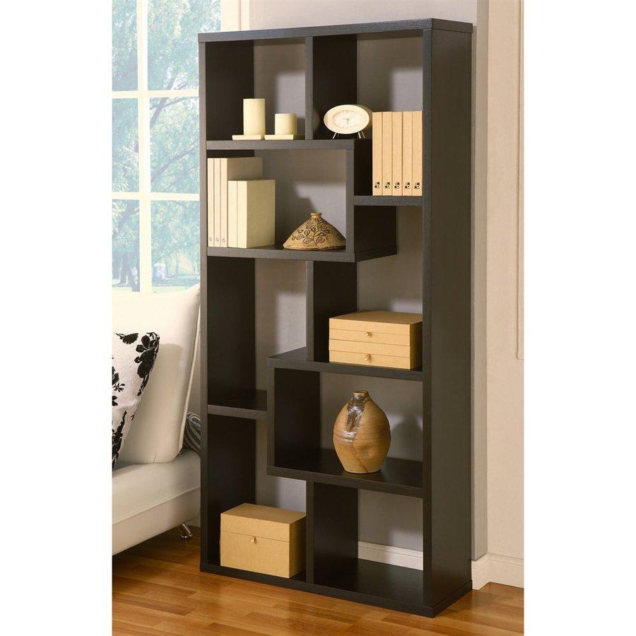 Enitial Lab Artiz Black 35-in W x 71-in H x 12-in D 8-Shelf Bookcase