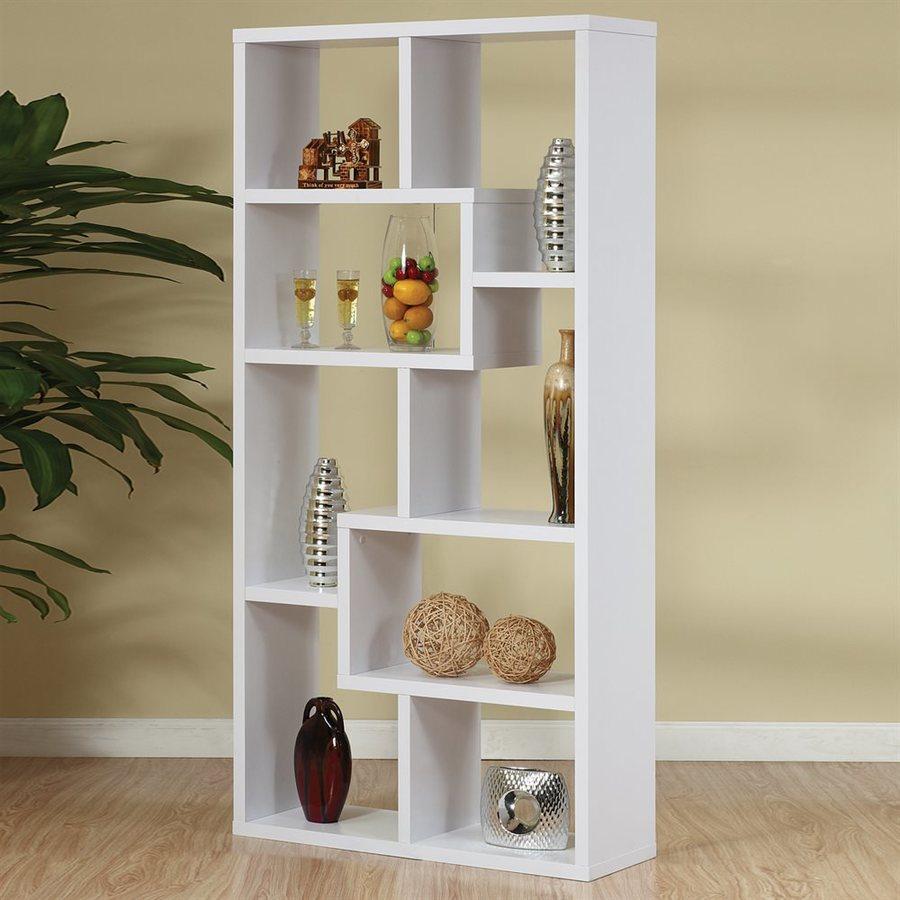 Enitial Lab Artiz White 35-in W x 71-in H x 12-in D 8-Shelf Bookcase