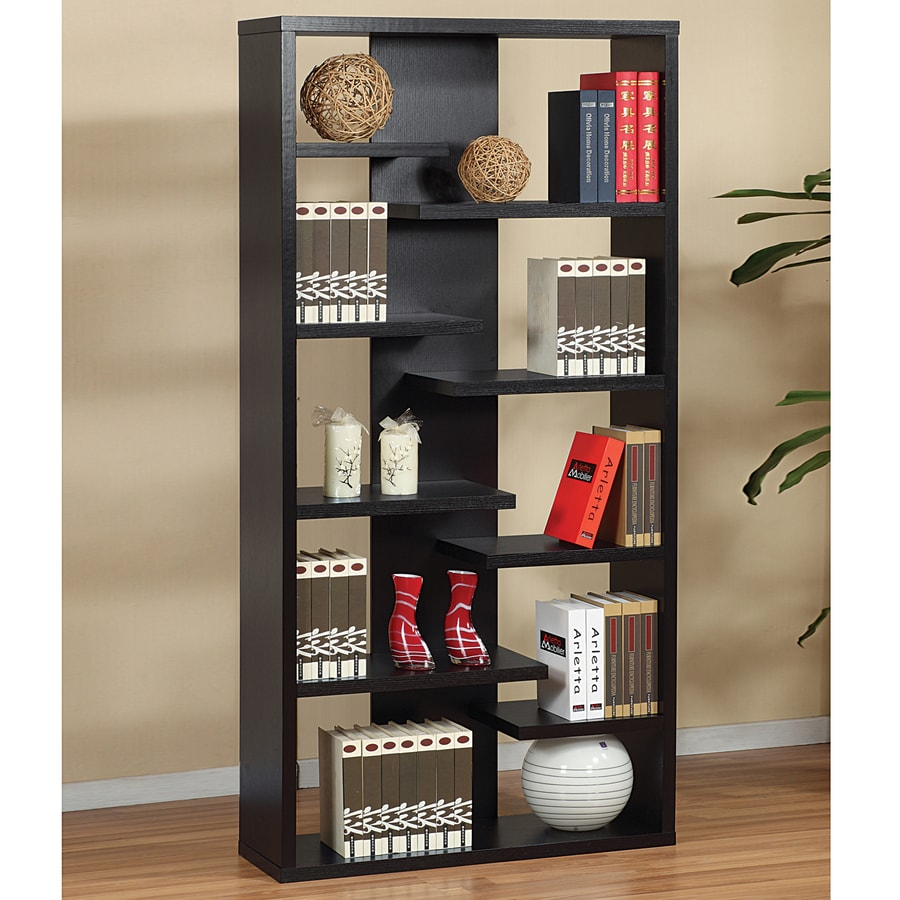 corner bookcase and shelves