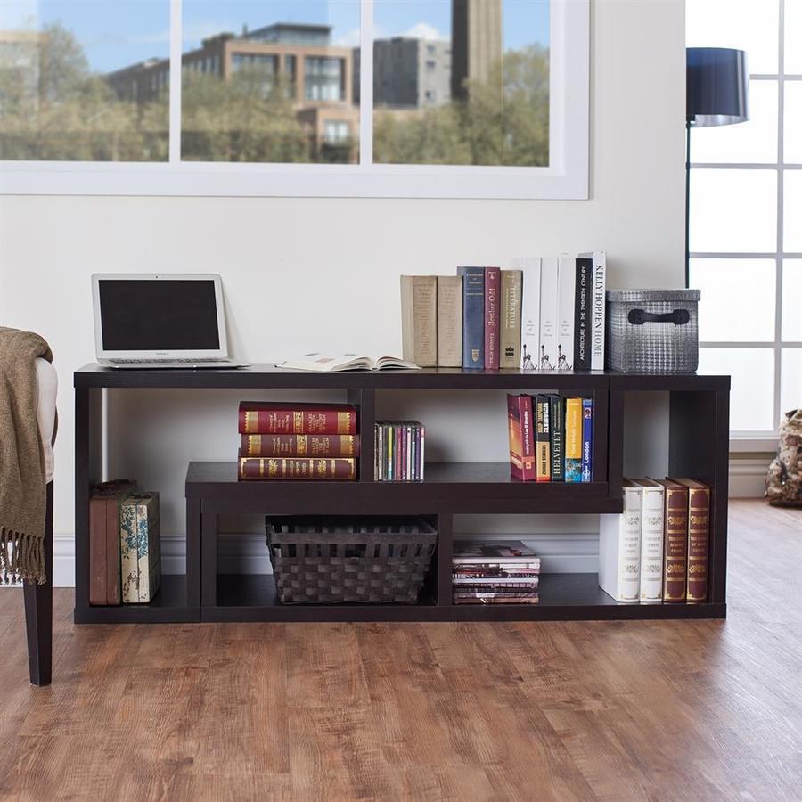 Enitial Lab Nina Espresso 94.5-in W x 22-in H x 15.5-in D 0-Shelf Bookcase