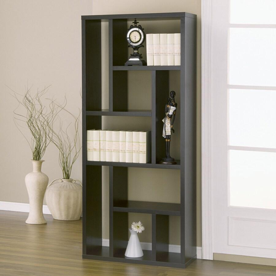 Enitial Lab Cappuccino 31.5-in W x 70.88-in H x 11.5-in D 9-Shelf Bookcase