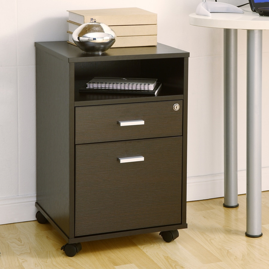 Enitial Lab Dark Espresso 2-Drawer File Cabinet