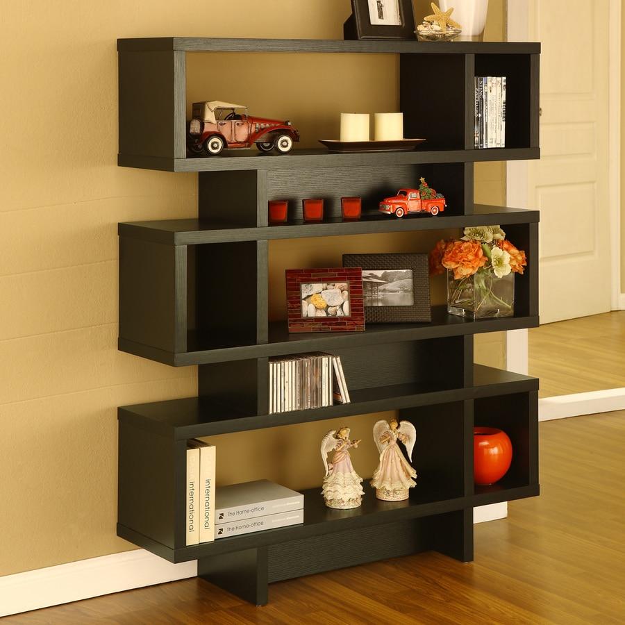 Enitial Lab Black 11-in W x 53-in H x 12-in D 8-Shelf Bookcase