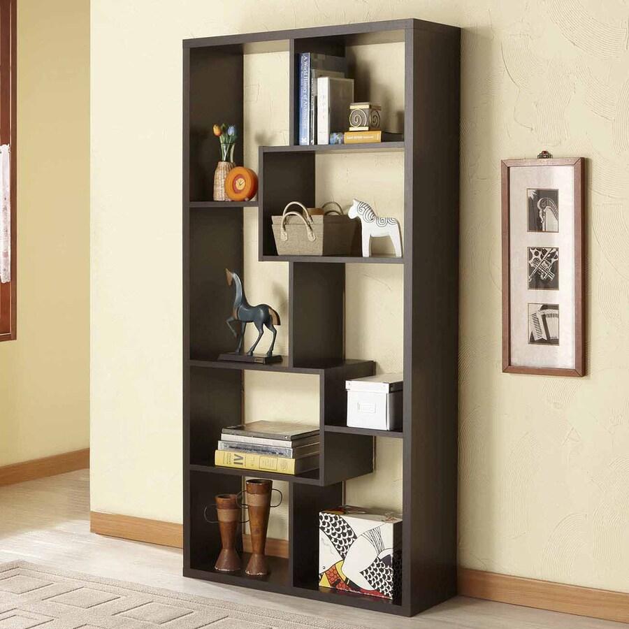 Enitial Lab Kamille Walnut 5-ft 11-in 8-Shelf Bookcase