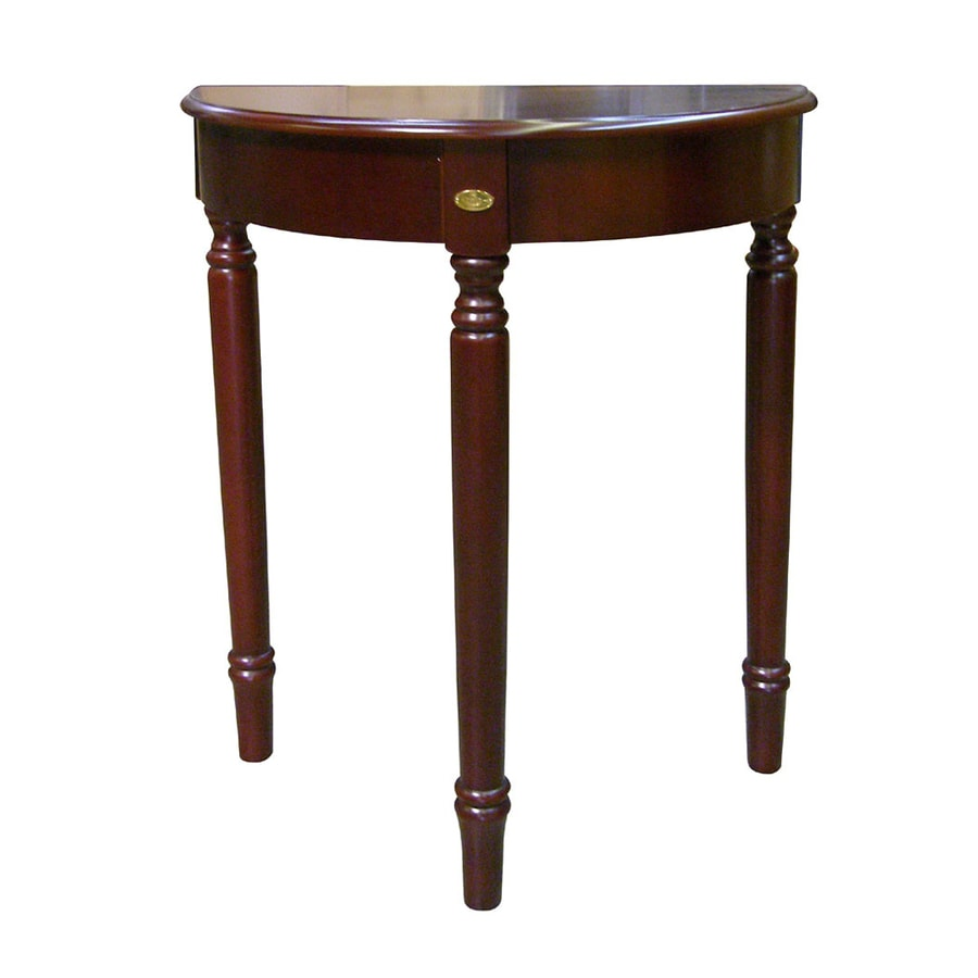 ORE International Painted Cherry Half-Round End Table