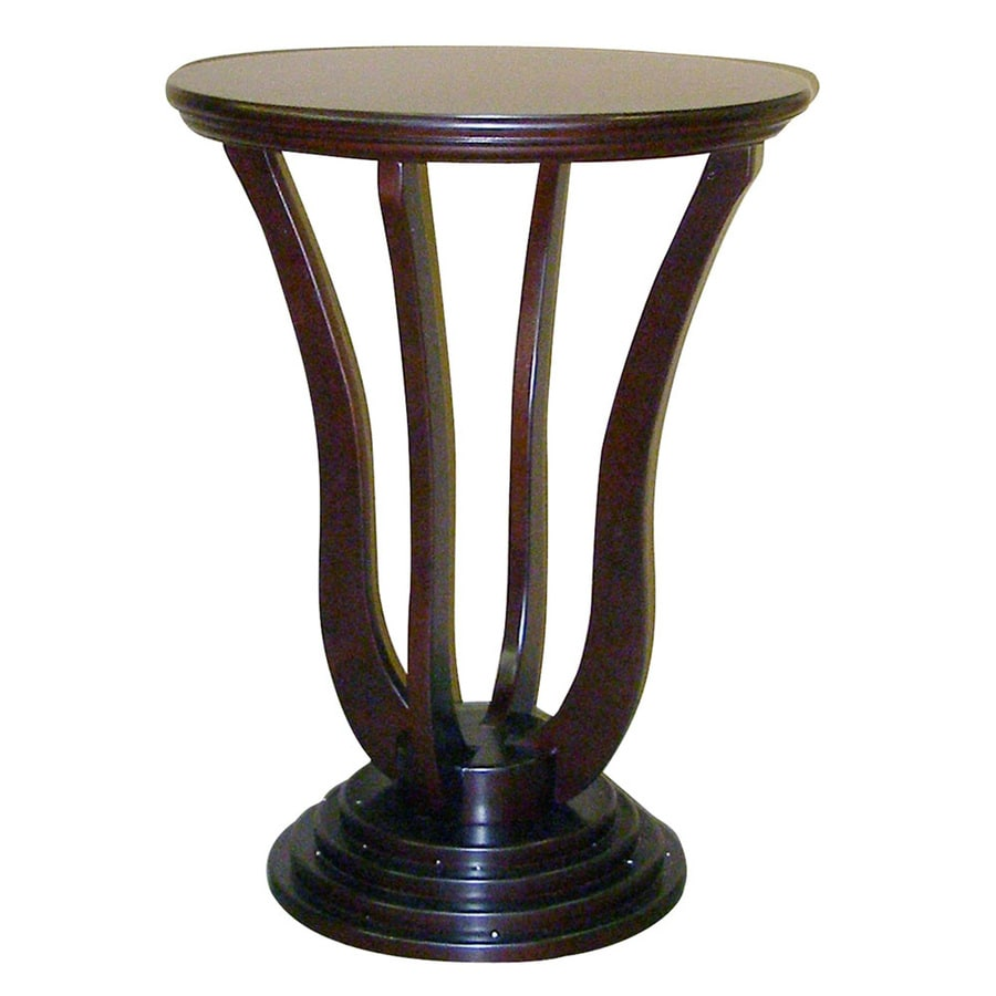 ORE International Dark Cherry Round End Table