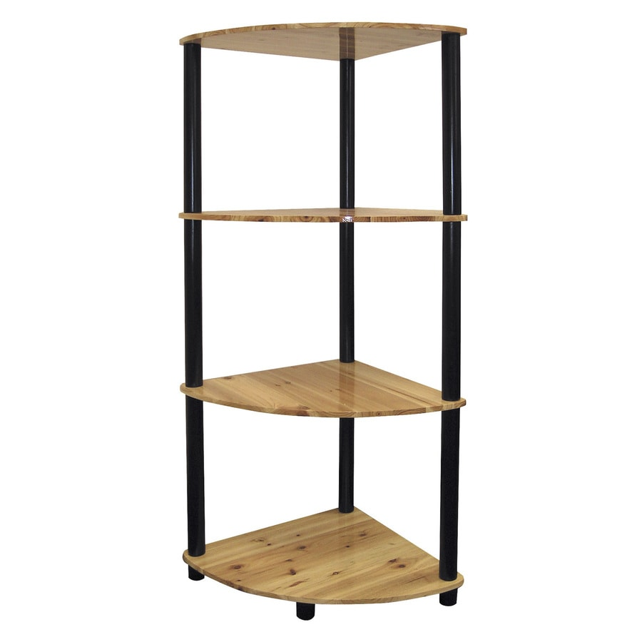 ORE International Light Pinewood 15.5-in W x 44-in H x 15-in D 4-Shelf Bookcase