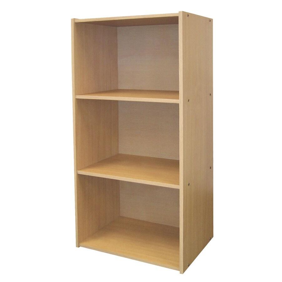ORE International Natural 16.5-in W x 35.5-in H x 12-in D 3-Shelf Bookcase